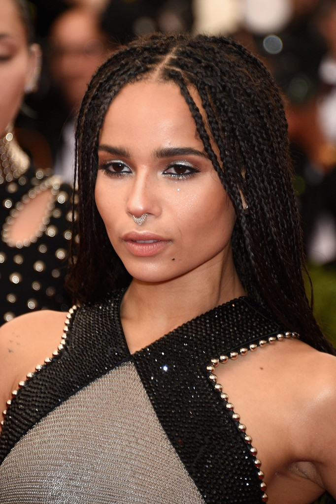 Zoe+Kravitz+Long+Hairstyles+Dreadlocks