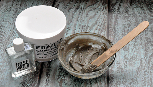 how to use bentonite clay mask